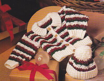 Crochet Pattern ~ BABY WINTER JACKET & HAT ~ Instructions