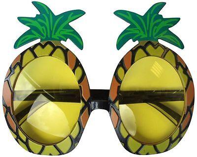 Beach Hawaiian Party Pineapple Fancy Dress Costume Specs Sunglasses Glasses x 12