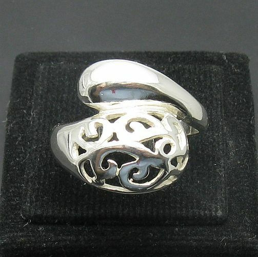 STYLISH STERLING SILVER RING SOLID 925 NEW SIZE H - Z R000942 Empress