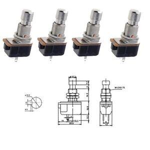 Fuss-Drucktaster-sehr-robuste-Metallausfuehrung-4-Stueck-SLY-TS-24B2
