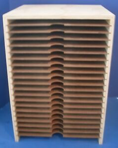 scrapbooking paper storage 12x12 cardstock 20 slots. Black Bedroom Furniture Sets. Home Design Ideas