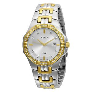 Pulsar-Men-039-s-PXDA86-Crystal-Accented-DressTwo-Tone-Stainless-Watch-COD-PAYPAL