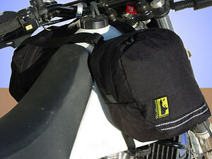 Wolfman-Luggage-Tank-Panniers-Bags-Packs-Black-NEW