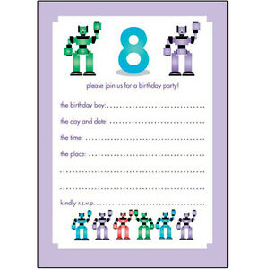 10 Childrens Birthday Party Invitations 8 Years Old Boy - WOW ...