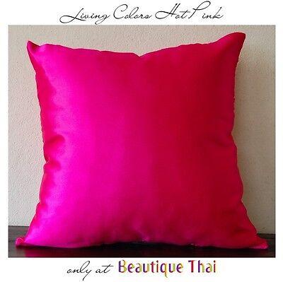 Luxury Thai polySilk cushion cover pillow sham in Hot Pink