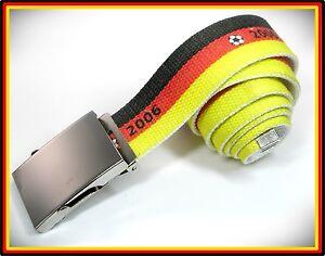 NOUVEAU-105-cm-Allemagne-Fan-ceinture-jaune-rouge-noir-armygurtel-armee-couplage-ceinture