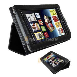 Black-PU-Leather-Cover-Case-Stand-Holder-for-Barnes-amp-Noble-Nook-Tablet-Color