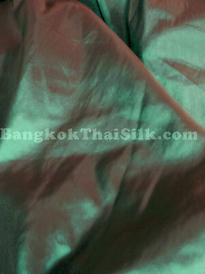 GREEN SHOT RED TAFFETA FAUX SILK FABRIC for DRAPE BRIDESMAID DRESS TABLECLOTH