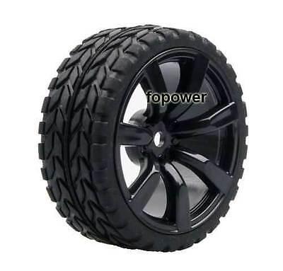 4pcs RC Flat Racing Tires Tyre Wheel Rim Fit HSP HPI 1:10 On-Road Car 9047-6017