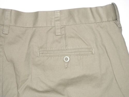 Croft /& Barrow NEW Tan Ivory Flex Waist Flat Front Shorts Mens Big /& Tall $44