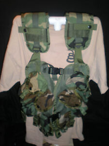Military-Issue-Enhanced-Tactical-Load-Bearing-Vest-Ammo-Mag-Pouch-Web-Gear-NEW