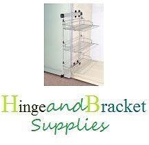3 TIER SHOE RACK ORGANISER BEDROOM ACCESSORIES FRAME AND 3 BASKETS CHROME