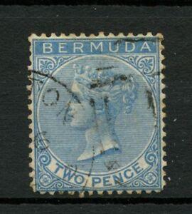 Bermuda-1866-SG-3-2d-Dull-Blue-QV-Used-A7418