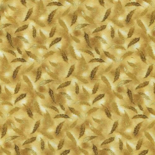 PASSAGE TO INDIA SM LEAVES ON TAN/CRM Cotton Fabric BTY for Quilting, Craft Etc