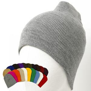 New-Knit-Short-Beanie-Beret-Hat-Ski-Cap-Skull-Snowboard-Running-Unisex-Men-Black