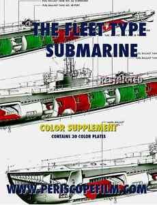 fleet type diesel submarine color diagrams book wwii u.s ... u s navy submarine diagram #12