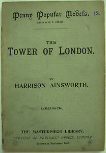 Penny-Popular-Novels-Harrison-Ainsworth-Tower-Of-London-1895-W-T-Stead-Titanic