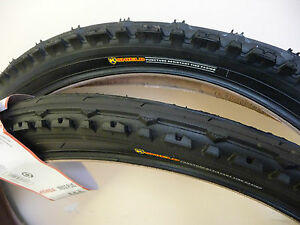 2-X-PAIR-OF-26-X-1-95-KENDA-CYCLE-BIKE-TYRES-SEMI-SLICK-PUNCTURE-RESISTANT