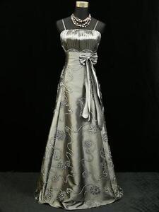 Cherlone-Satin-Grey-Long-Sparkle-Prom-Ball-Gown-Wedding-Evening-Dress-Size-14-16