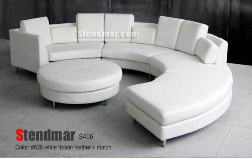 Sensational 5Pc Modern Round Sectional Leather Sofa S406W Machost Co Dining Chair Design Ideas Machostcouk