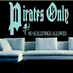 Pirates Only Kids Quote Stylish Wall Decal  Childrens Quote Wall Sticker niq50 - <span itemprop=availableAtOrFrom>Tamworth, Staffordshire, United Kingdom</span> - We offer a 100% customer satisfaction gaurantee, if you are unhappy with the item for any reason you will be entitled to a refund/replacement, where a replacement is requi - Tamworth, Staffordshire, United Kingdom