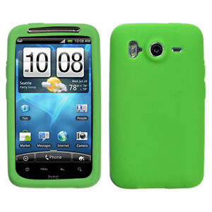 Green-Rubber-Silicone-Skin-Case-for-HTC-Inspire-4G