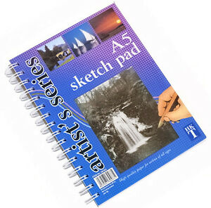 A5-Artist-Art-Drawing-Sketch-Sketching-Pencil-Charcoal-Pad-Book-White-Paper