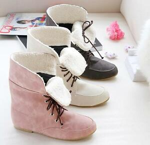 New-Women-Winter-Shoestring-Warm-Mid-calf-Snow-Boots-Shoes-Many-Sizes-Free-Ship