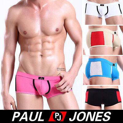 Comfy~Sexy Men Mens Low Rise Mesh Underwear Boxer Briefs Bottm Trunks SZ:S/M/L
