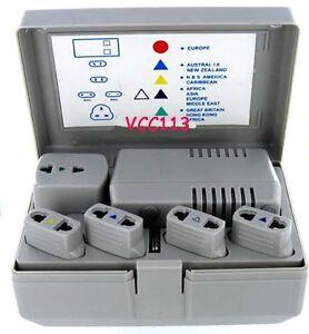 50-TO-1600W-Worldwide-Foreign-Voltage-Converter-Travel-Kit-Adapters-1600-Watt