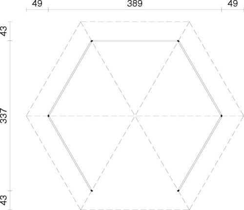 gartenpavillion betty 3 betty durchmesser 337 cm 12x12. Black Bedroom Furniture Sets. Home Design Ideas
