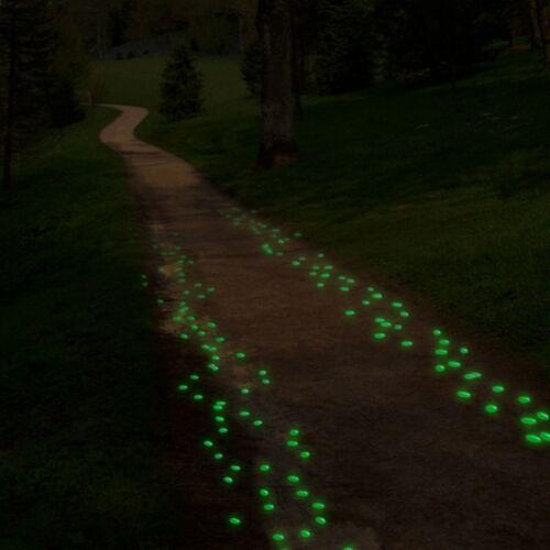 100 Green Glow in the Dark Pebbles Rocks for Walkways Decor Driveways Flowers