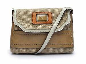 Talina-Cross-body-Messenger-Bag-Canvas-Handbag-Brown-Multi-Purse-NWT-CH