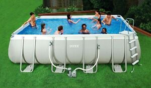 Intex 18 39 x9 39 x52 rectangular above ground swimming pool for Intex pool handler