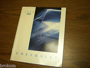 DEALER-96-PAGE-SALES-BROCHURE-FOR-1993-CHEVROLET-FULL-CAR-LINE-MINT-CONDITION
