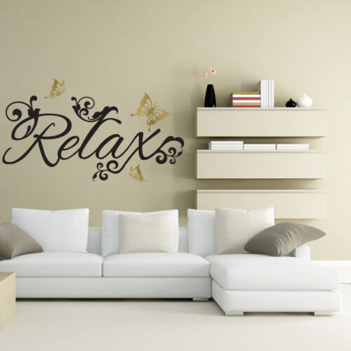 RELAX butterflies wall sticker art decal beauty salon lounge bedroom bathroom