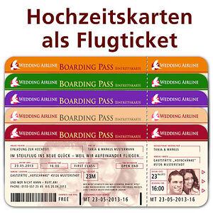 Einladungskarten Flugticket ✽ Einladungen ✽ Hochzeit Party Ticket ...