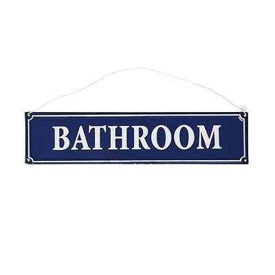dotcomgiftshop FRENCH BATHROOM SIGN BLUE METAL. HANGING SHOWER ROOM METAL SIGN