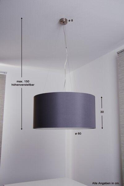 Lampada a sospensione 60cm Lampadario contone Design stile moderno Nuovo 39951