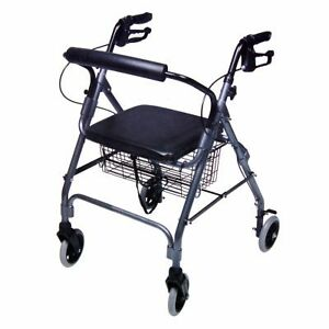 Walkabout-Lite-4-Wheel-Rollator-Rolling-Walker-Wheelchair-RJ4300TPV-Titanium