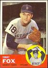 1963 Topps Terry Fox Detroit Tigers #44 Baseball Card