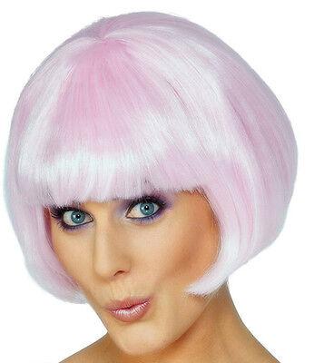 pink ladies bob wig fancy dress fun girls hen nights 60s 70s 80s fun