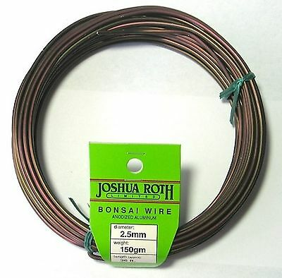 Bonsai Training Wire 2.5 mm 150 gm Coil Anodized Alum