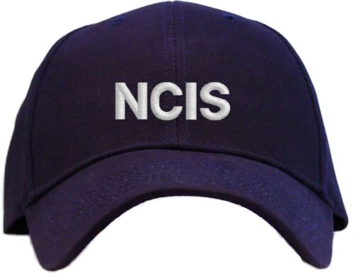 Available in 7 Colors NCIS Embroidered Baseball Cap Hat BLOCK Letter Style