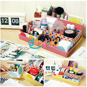 Diy desk cosmetic storage box container bag case stuff for Diy desk stuff