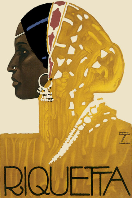 Riquetta African POSTER.Stylish Graphics.Great Room Interior Decor.Exotic!180
