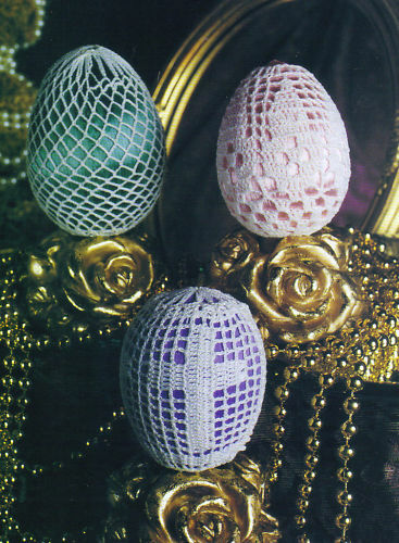 DELICATE Easter Egg Ornaments/Decor/Crochet Pattern INSTRUCTIONS ONLY