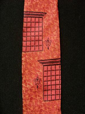 Vintage 1950's -1960's Seide Boden Orange Kastanienbraun Cavalier Krawatte