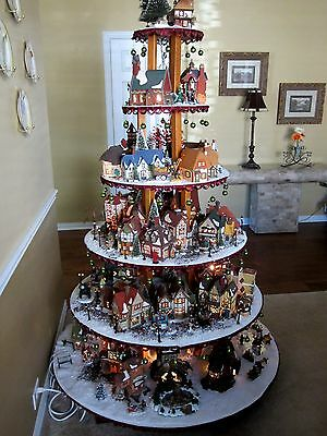 BUILD YOUR Village House Display Stand Dept 56 Lemax Christmas Halloween Easter