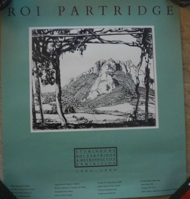 POSTER ROI PARTRIDGE ETCHINGS 1984 SANTA ROSITA 1923 MILLS COLLEGE ART GALLERY